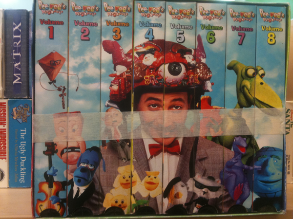 Pee Wee VHS tapes
