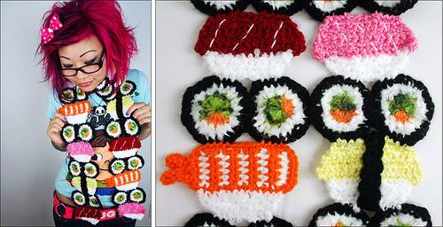 Twinkie Chan's Sushi Scarf!